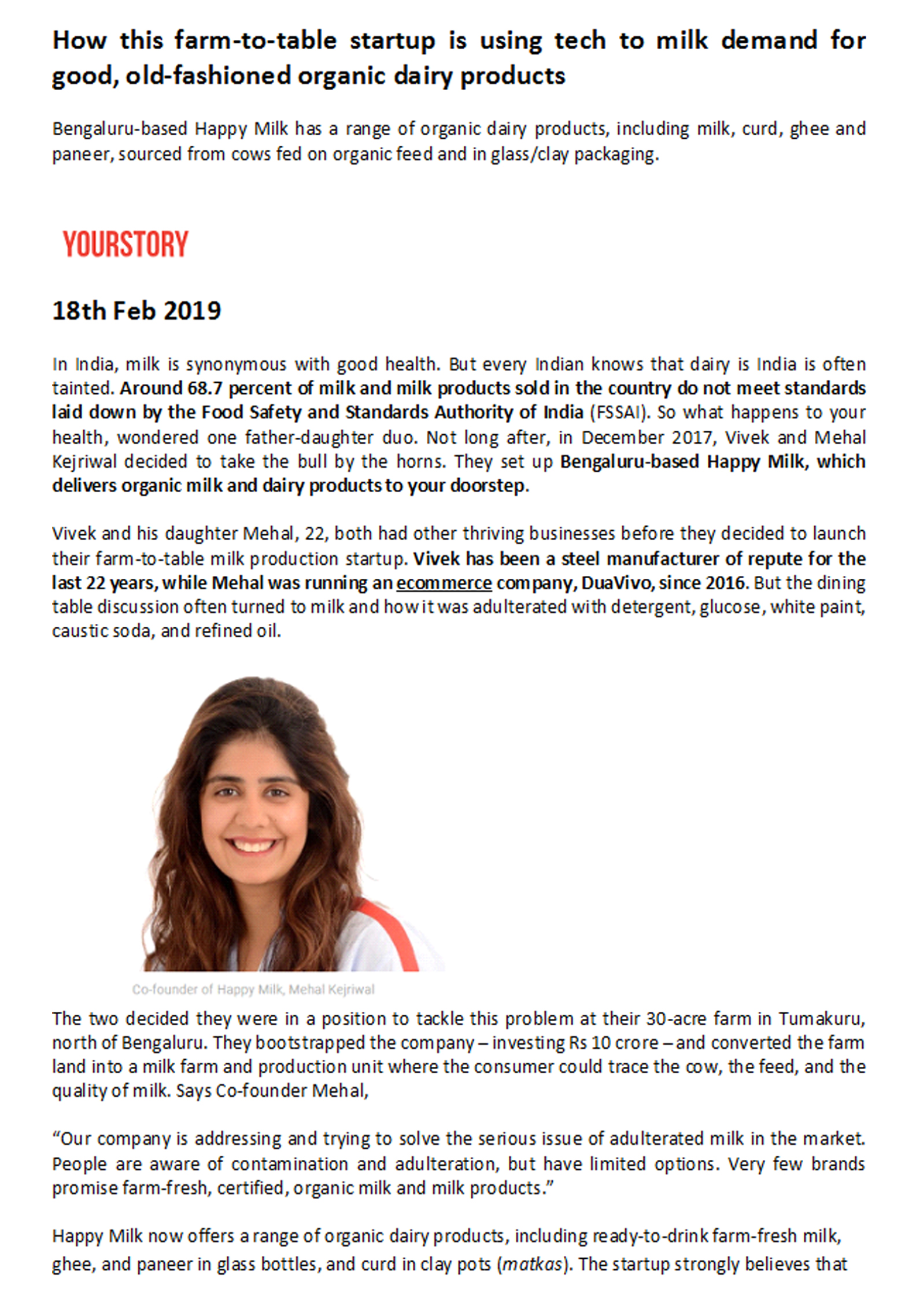 Your Story / 18th Feb 2019
